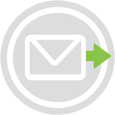Envelope with an arrow pointing to the right